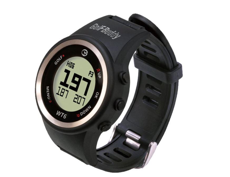 GolfBuddy WT6 Golf GPS Watch, Black