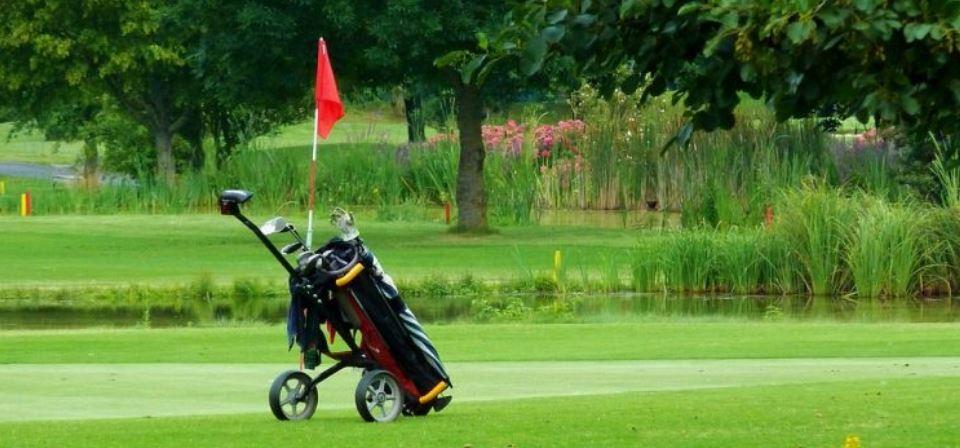 Golf Push Cart Banner