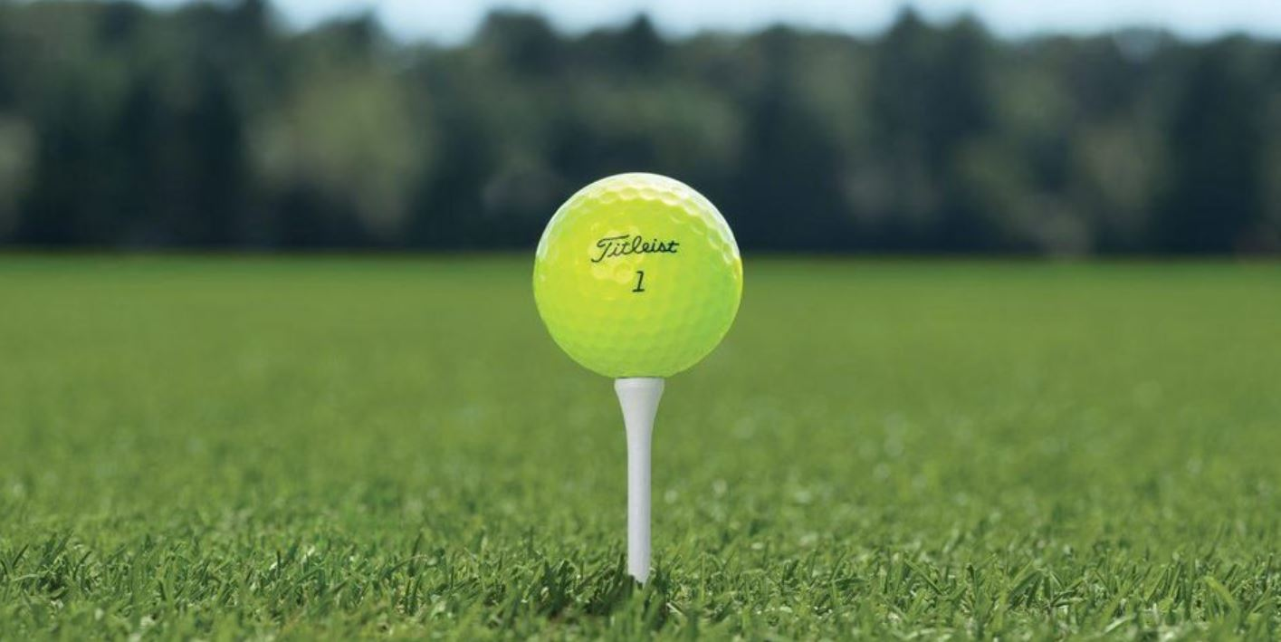 Golf Ball Ready To Be Driven