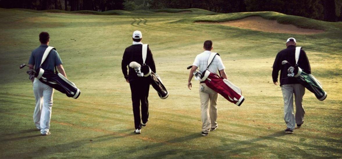 Golfers Walking