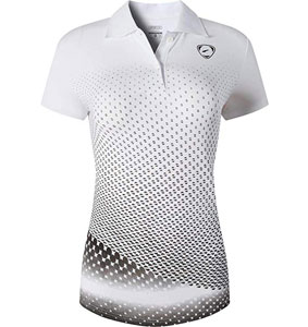 Jeansian Women's Outdoor Sport Dry Fit Short Sleeves Golf Polo
