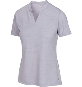 Three Sixty Six Women's Short Sleeve Collarless Golf Polo Shirt